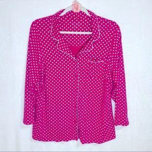 Cacique Sleepwear Pink & Silver Pajama Top, 26/28